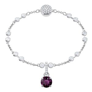 Swarovski Remix Collection Charm, February, Purple, Rhodium plating