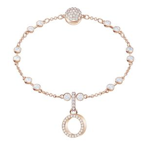 Swarovski Remix Collection Charm O, White, Rose Gold Plating
