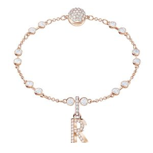 Swarovski Remix Collection Charm R, White, Rose gold plating
