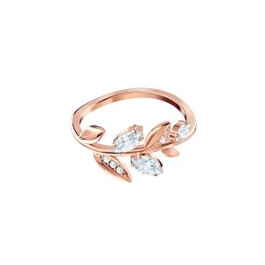 Swarovski Mayfly Ring, White, Rose Gold Plating