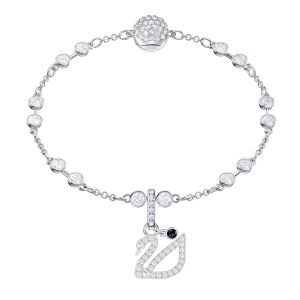 Swarovski Remix Collection Swan, White, Rhodium plating