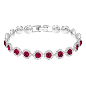 Swarovski Angelic Bracelet, Medium, Red, Rhodium Plating