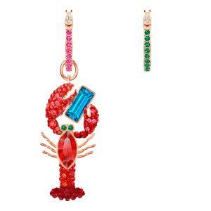 Swarovski Ocean Hoop Earrings, Multi-coloured, Rose Gold Plating
