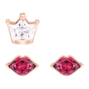 Swarovski Out Of This World Kiss Pierced Earrings, Red, Mixed Plating