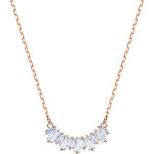 Swarovski Sunshine Necklace, White, Rose Gold Plating