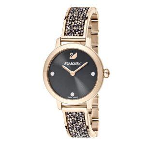 Swarovski Cosmic Rock Watch, Metal Bracelet, Grey, Champagne Gold Tone