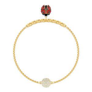 Swarovski Remix Collection Ladybug Strand, Multi-Coloured, Gold Plating
