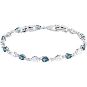 Swarovski Vintage Bracelet, Blue, Rhodium Plating