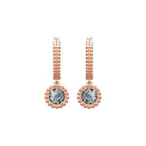 Swarovski Oxygen Pierced Earrings, Grey, Rose Gold Plating