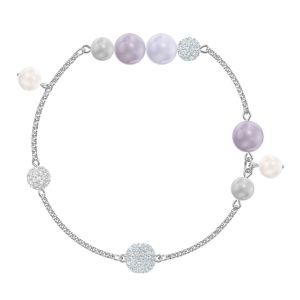 Swarovski Crystal Powder Rose Pearl Remix Bracelet