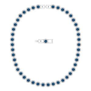 Swarovski Angelic Necklace, Blue, Rhodium Plating