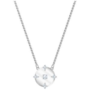 Swarovski North Necklace, White, Rhodium Plating