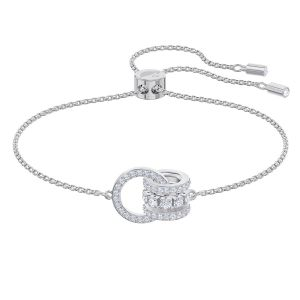 Swarovski Further Bracelet, White, Rhodium Plating