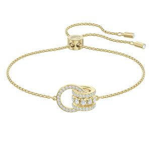 Swarovski Further Bracelet, White, Gold Plating