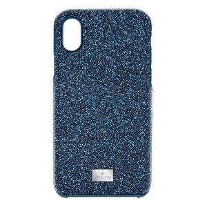 Swarovski High Smartphone Case with integrated Bumper, iPhone X/XS, Blue