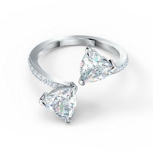 Swarovski Attract Soul Heart Ring Rhodium Plating