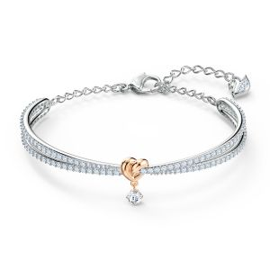 Swarovski Lifelong Heart Bangle Mix Tone Metal Medium