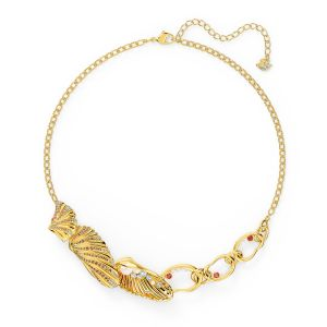 Shell Necklace, Light multi-coloured, Gold-tone plated