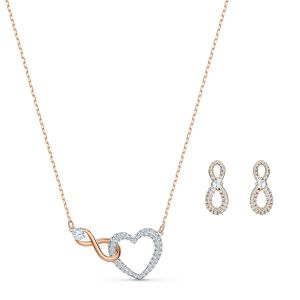 Swarovski Infinity Jewellery Set - Rhodium Plated