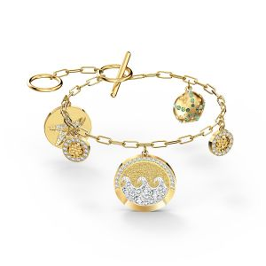 Swarovski Shine Coins Bracelet - Gold Plated