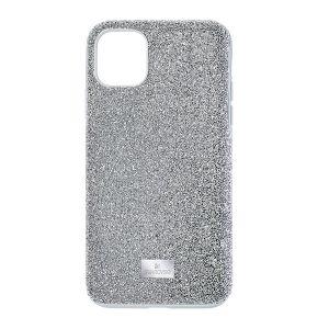 Swarovski High Smartphone Case, iPhone 11 Pro Max, Silver Tone