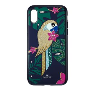 Swarovski Tropical Parrot Smartphone Case IPHONE® XS MAX, DARK MULTI-COLOURED