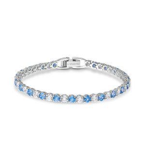 Swarovski Anniversary Deluxe Tennis Bracelet - Blue and White Crystal