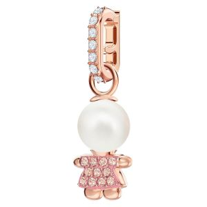 Swarovski Remix Collection Girl Charm, Pink, Rose Gold Plating