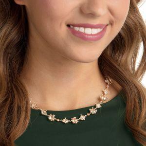Swarovski Olive Necklace, Multi-Coloured, Gold Plating