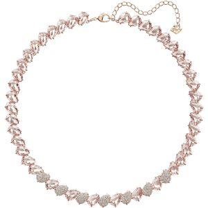 Swarovski Mix Necklace, Pink, Rose Gold Plating