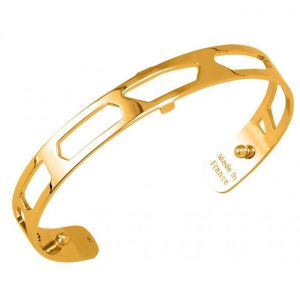 Les Georgettes Girafe Gold Plate PVD 8mm Cuff Bangle