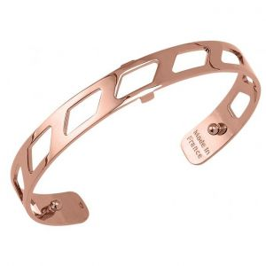 Les Georgettes Rose Gold Plate PVD 8mm Ruban Cuff Bangle