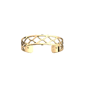 Les Georgettes Cannage 14mm Gold Finish Bangle