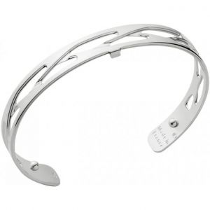 Les Georgettes Silver Plate 8mm Tresse Cuff Bangle