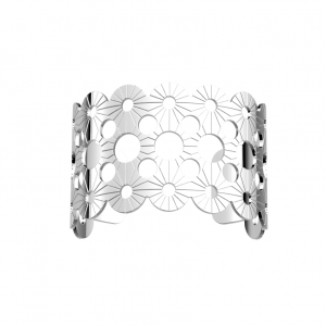 Les Georgettes Bosquet 40mm Silver Finish Bangle