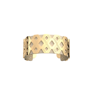 Les Georgettes Pavillon 25mm Gold Finish Bangle