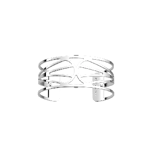 Les Georgettes Garden 25 mm Silver Finish Bangle