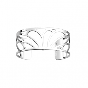 Les Georgettes Lotus 25mm Silver Finish Bangle