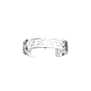 Les Georgettes Lotus 14mm Silver Finish Bangle