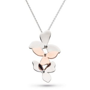Kit Heath Blossom Bloom Trio and Rose Gold Plated Necklace