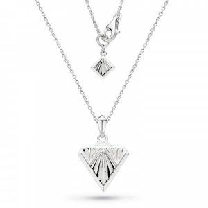 Kit Heath Empire Deco Diamond Shape Necklace