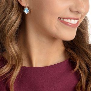 Swarovski Olive Drop Earrings, Rhodium Plated