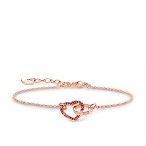 Thomas Sabo 'Together Heart' Bracelet, Rose and Red