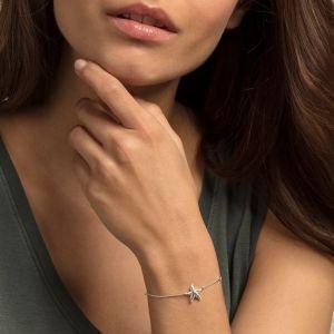 Thomas Sabo Silver and Zirconia Starfish Bracelet A1756-051-14