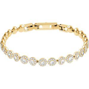 Swarovski Angelic Bracelet, White, Gold Plating