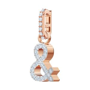 Swarovski Remix Collection Charm &, White, Rose Gold Plating