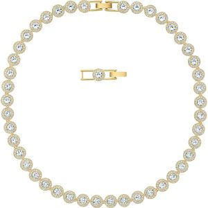 Swarovski Angelic Necklace, White, Gold Plating