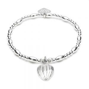 Annie Haak Biji Lined Heart Charm Bracelet