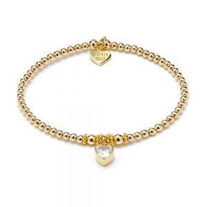 Annie Haak Golden Heart Crystal Charm Bracelet