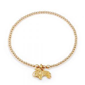 Annie Haak Santeenie Gold Elephant Charm Bracelet